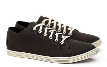 Pánské nízké černé tenisky Shoe the Bear