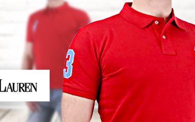 Pánské polo triko Polo Ralph Lauren v červené barvě - poslední kusy!