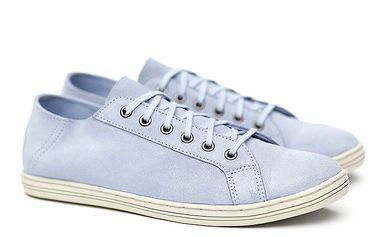 Pánské světle modré semišové tenisky Shoe the Bear