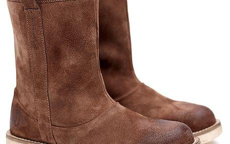 Dámské hnědé semišové nízké kozačky Shoe the Bear
