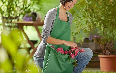 Zahradní zástěra na sbírání listí
