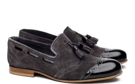 Dámské šedé semišové polobotky Shoe the Bear