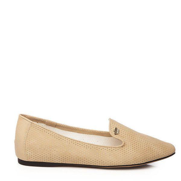 Dámské béžové loafers Keddo