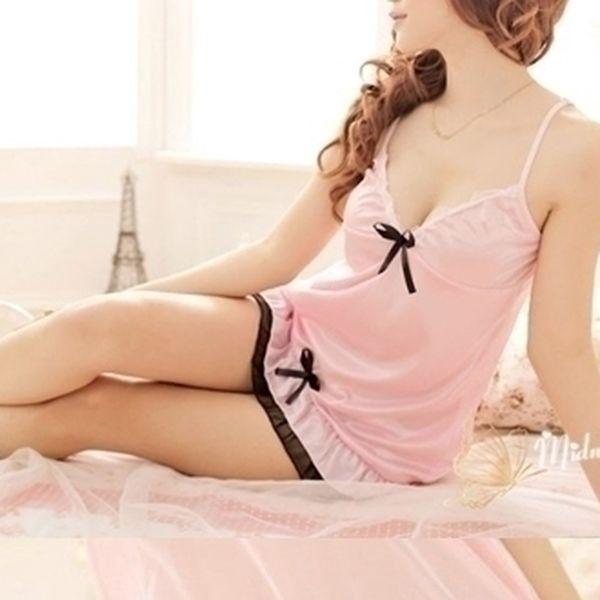 Oslňující noční košilka Sweet Pink z edice Midnigh...