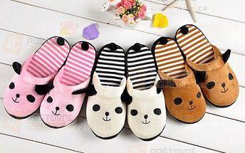 Protiskluzové pantofle ve 3 barvách s motivem pandy a poštovné ZDARMA! - 23612438