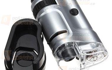 Mini LED mikroskop 20x - 40x a poštovné ZDARMA! - 23312518