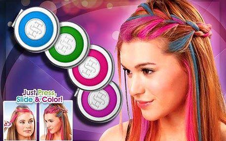 4 smývatelné barvy na vlasy Hot Hair pro Váš moderní, duhový účes jsou velkým hitem. Na každou příležitost si jednoduchým a rychlým způsobem můžete zvolit jinou barvu vašeho účesu, přičemž ušetříte čas a peníze za kadeřnici!