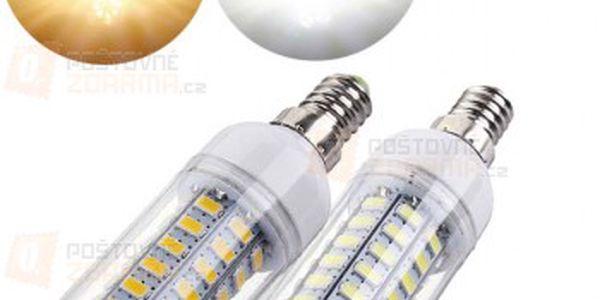 6 W LED žárovka s 56 LED diodami - 2 barvy světla (patice E14) a poštovné ZDARMA! - 23312505