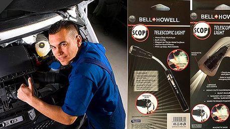 Hledáte spolehlivou baterku, která Vám zajistí kvalitní osvětlení i těžko přístupných míst a nevybije se Vám po několika použitích? Pomůže vám teleskopická magnetická baterka od léty prověřené americké společnosti Bell & Howell.