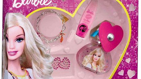 Barbie dárková sada - toaletní voda 50 ml, Náramek, Balzám, Tetování