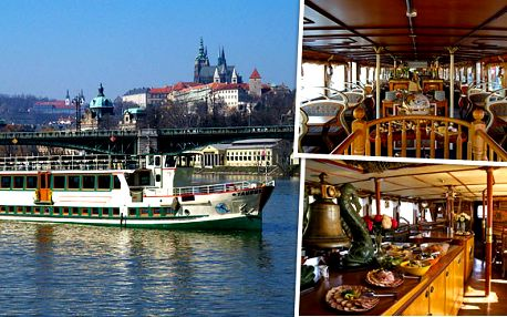 Plavba lodí po Vltavě s občerstvením za akční cenu