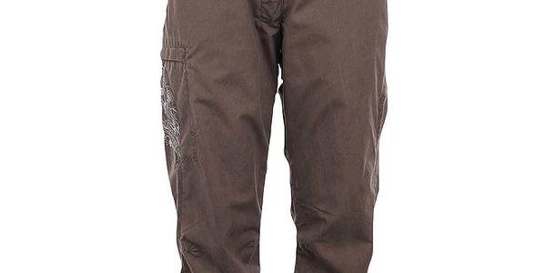 Dámské hnědé capri kalhoty Hannah