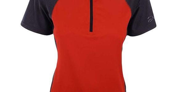 Dámské červené funkční tričko se zipem Hannah