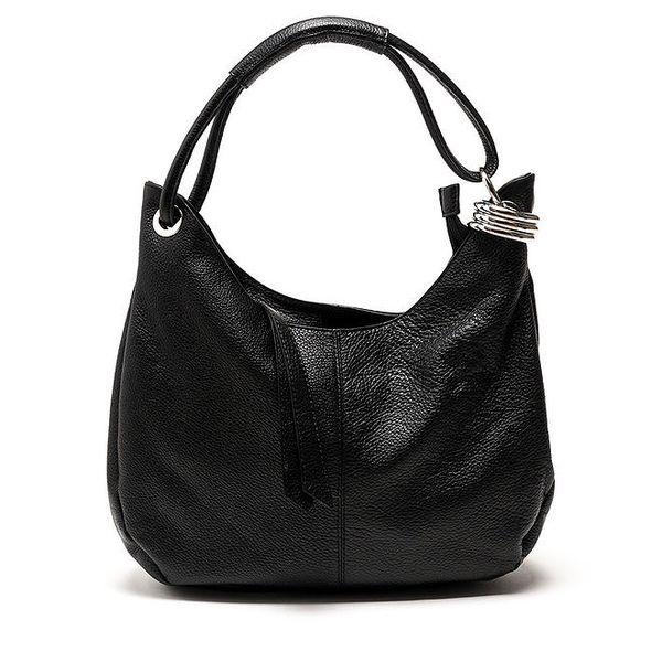 Dámská černá kabelka s jedním držadlem Carla Ferreri