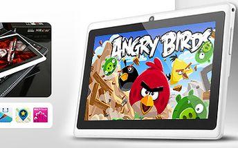 Multimediální 7palcový tablet Angry Birds: s duálním foťákem a klávesnicí!