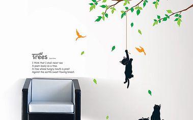 Samolepka Kočky na stromě