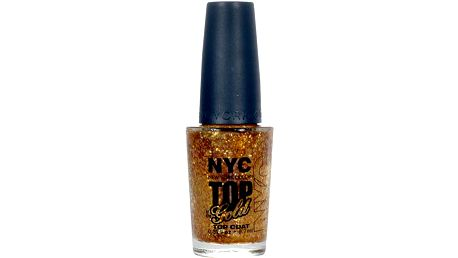 NYC New York Color Nail Polish Top Coat 9,7ml Lak na nehty W - Odstín 010 Top of the Gold