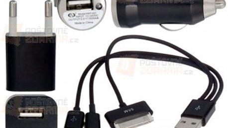 3v1 nabíjecí set s různými konektory - 2 barvy a poštovné ZDARMA! - 23812602