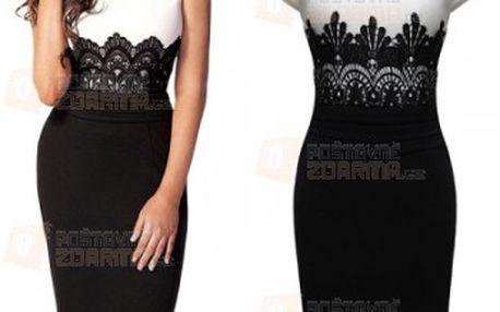 Dámské šaty s krajkou v decentním stylu a poštovné ZDARMA! - 24312585