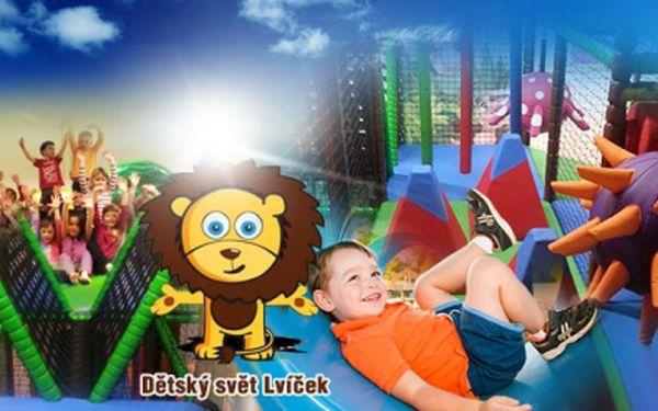 CELODENNÍ VSTUP do kouzelného DĚTSKÉHO SVĚTA LVÍČEK jen za 79 Kč! Nechte své ratolesti (děti do 15 let) vyřádit v dětském centru, kde si mohou prolézt a vyzkoušet nespočet atrakcí, skluzavek a prolézaček! Sleva 60%!
