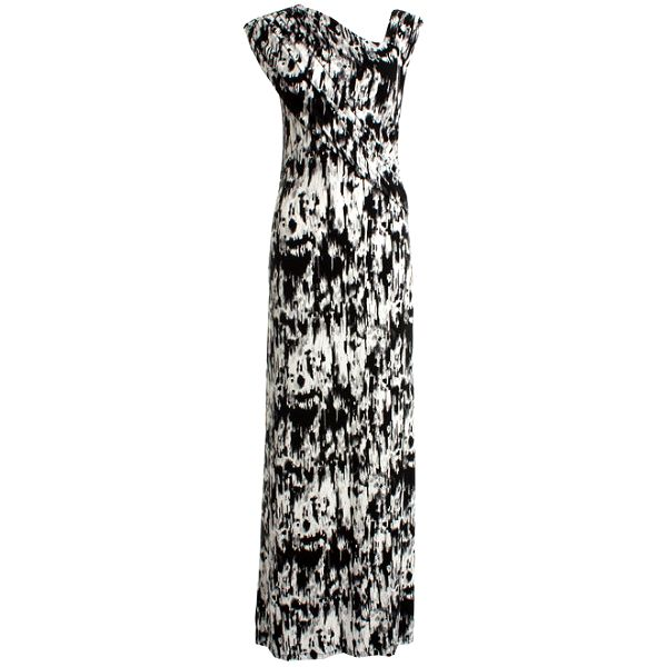 Dámské černo-bílé šaty s asymetrickým výstřihem JDC London