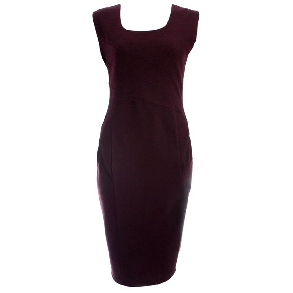 Dámské vínové pouzdrové šaty JDC London