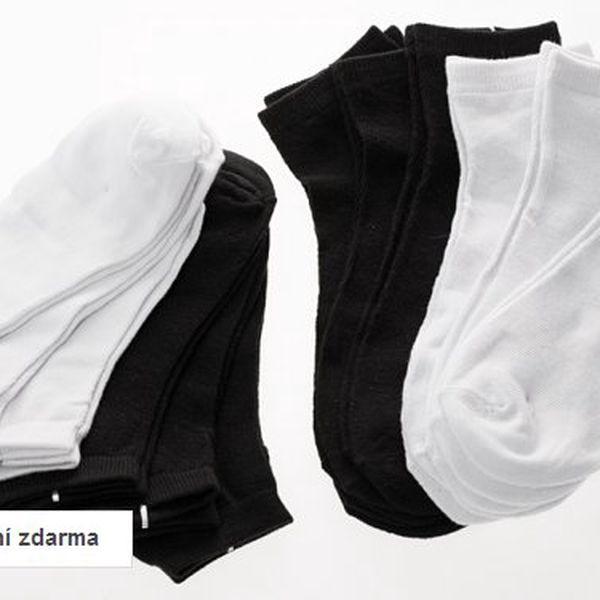 Dámské nebo pánské kotníčkové ponožky – 12 párů, doručení zdarma