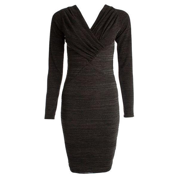 Dámské černé šaty s dlouhým rukávem JDC London