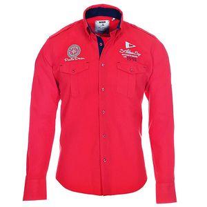 Pánská červená košile s kapsičkami Pontto