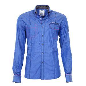Pánská modrá košile s kapsami Pontto
