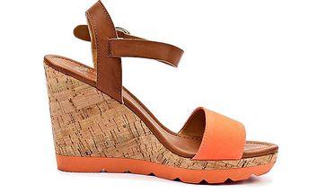 Dámské korkové sandály na platformě Rascal
