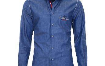 Pánská modrá košile s číslicí Pontto