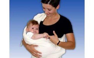 Babyvak látkové nosítko s kapsou Baby vak plus - nature