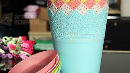Dekorativní květináč v mnoha barvách a poštovné ZDARMA! - 23912626