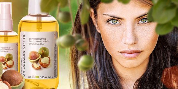 100 ml makadamového oleje pro krásnou pleť