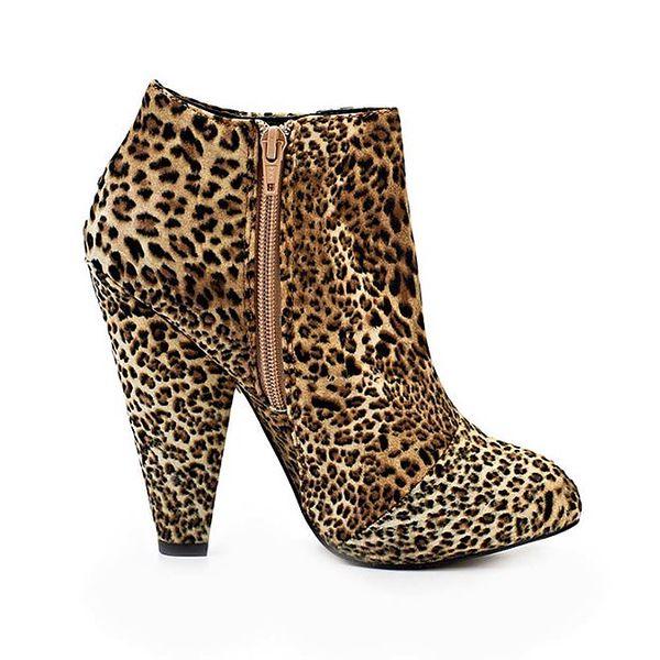 Dámské kotníkové boty s leopardím vzorem Timeless