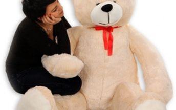 Plyšový Medvěd Baby Nellys - Smetanový - 180cm