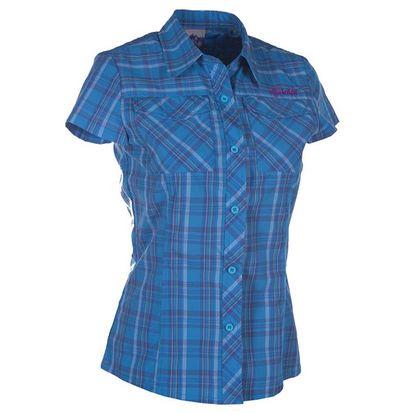 Dámská modrá kostkovaná košile s krátkým rukávem Kilpi