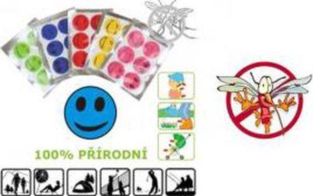 Repelentní samolepky - 6 kusů - ochrana proti komárům