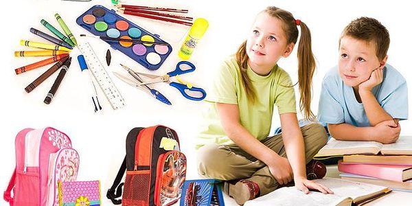 Školní výbava včetně dětského batůžku a plného penálu pro kluky nebo holky