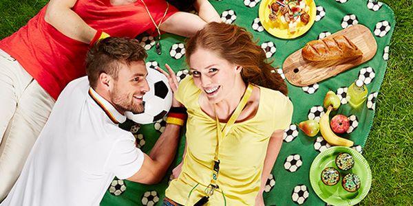 Fleecová deka s fotbalovým potiskem