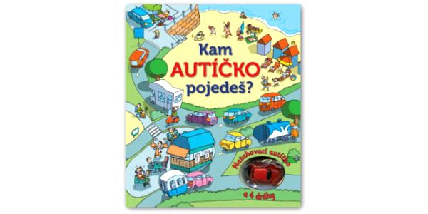 Kam AUTÍČKO pojedeš? Natahovací autíčko – kniha a 4 dráhy Kam pojedeš, autíčko? Kam po klikatých silnicích dojedeš? Kniha obsahuje čtyři dráhy a natahovací autíčko.