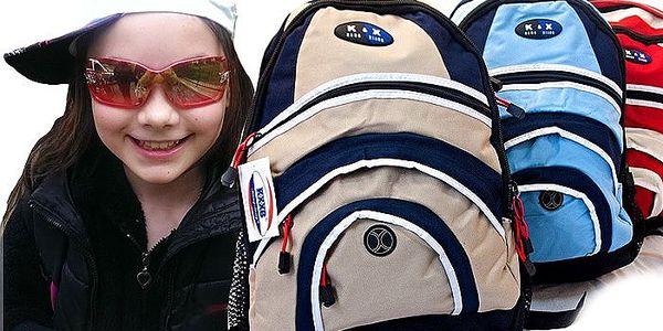 Voděodolný školní batoh v různých barvách s osmi kapsami