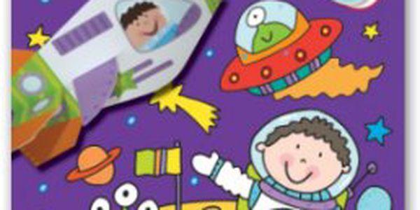 Vesmír Zábavné úkoly, rébusy, barevné samolepky, vytlačovací skládanky – to je dětská knížka Vesmír.