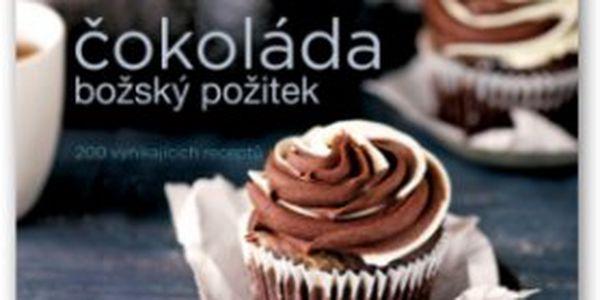 """Čokoláda - božský požitek Tuto """"čokoládovou"""" knihu receptů si prostě musíte zamilovat – najdete v ní více než 200 receptů na všechno z čokolády, od těch jednoduchých až po složité."""
