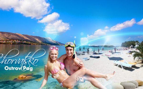 OSM DNÍ v CHORVATSKU na kouzelném ostrově PAG! Dovolená u moře s vlastní dopravou a UBYTOVÁNÍM V BUNGALOVU jen za 990 Kč!!! Kochejte se překrásným výhledem na otevřené moře a zelenou oázu tohoto kamenitého kraje!