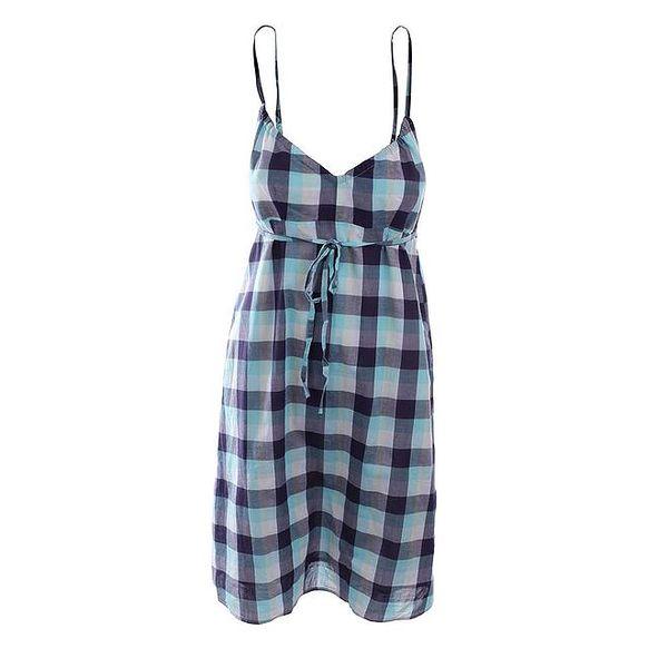 Dámské modro-tyrkysové kostkaté šaty Timeout