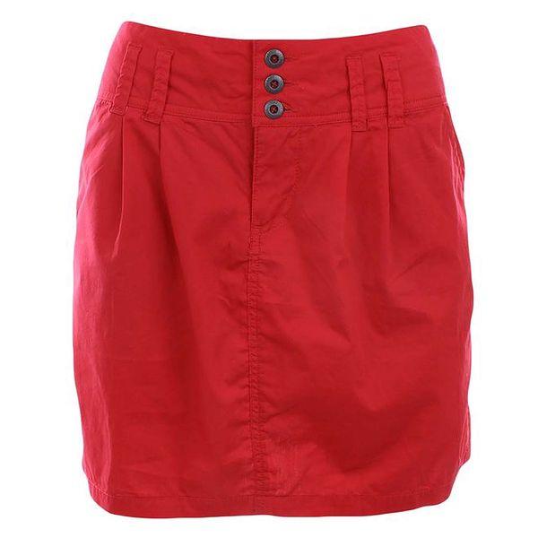 Dámská červená bavlněná sukně Timeout