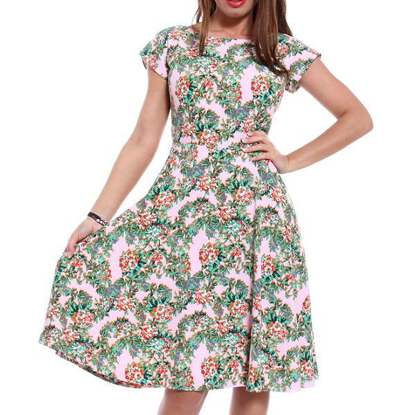 Dámské šaty s květinovým potiskem Oriana