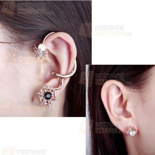 Náušnice na ucho - pavouček a poštovné ZDARMA! - 24012670